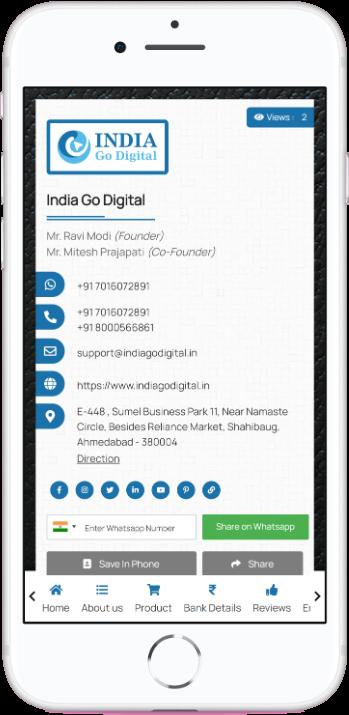 Digital Visiting Card Cum Website