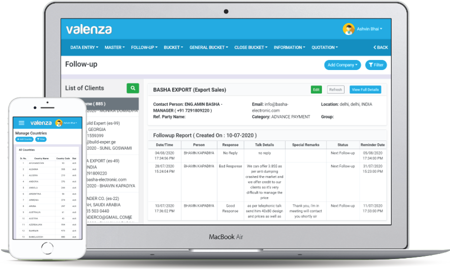 Valenza CRM - Followup Management System
